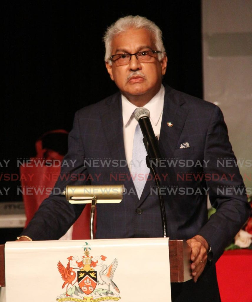 Minister of Health Terrence Deyalsingh. -