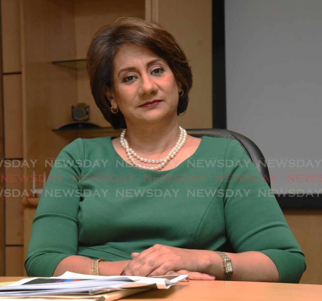 First Citizens CEO Karen Darbasie. FILE PHOTO -