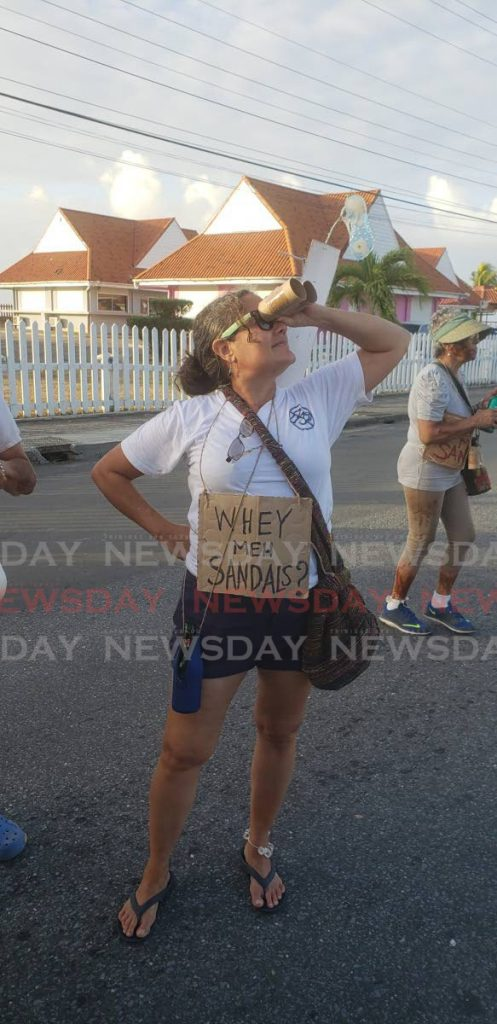 A J'Ouvert reveller in Scarborough last year comments on the pull out of Sandals from building a resort in Tobago. -