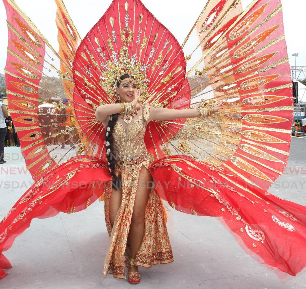 In this file photo, a masquerader from Lost Tribe's 2019 presentation, Taj, dances on stage. Lost Tribe caters to the demand from persons who want more authenticity and craft from their Carnival experience. -