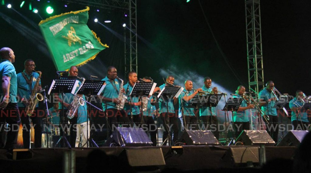 FILE: TT Army Band performs at last year's Brass Bacchanal, North Park, Queen's Park Savannah, Port of Spain.  -