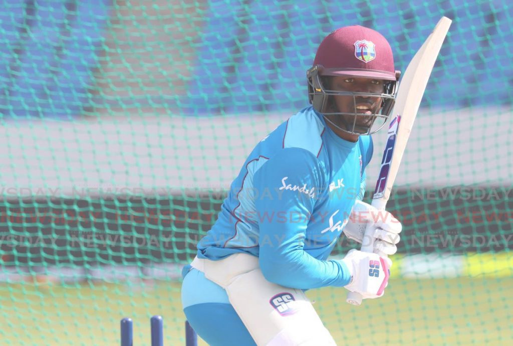In this Aug 19,2019  file photo, West Indies batsman Darren Bravo takes part in a training session, at the Sir Vivian Richards Cricket Ground, Antigua. On Monday, Cricket West Indies named Bravo in the ODI squad for the series against Sri Lanka which starts on Feb 22. - CWI Media