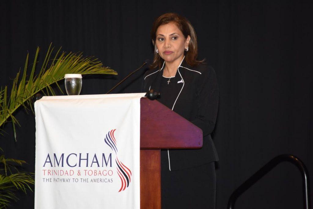 Amcham TT president Patricia Ghany. -