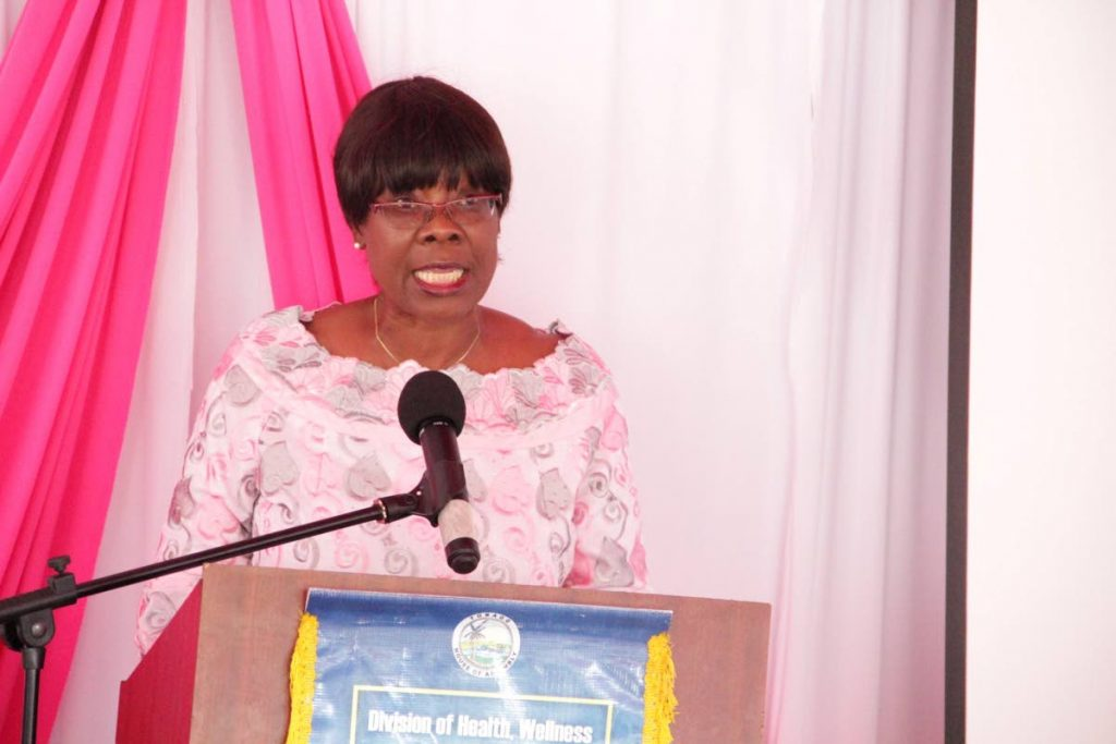 Helath, Wellness and Family Development Secretary Dr Agatha Carrington -