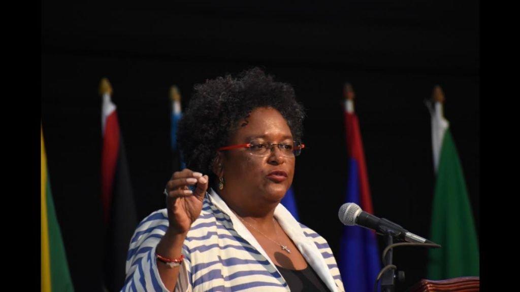 Barbados Prime Minister Mia Mottley  -