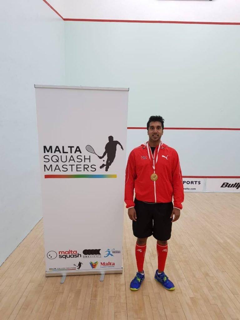 TT squash player Colin Ramasra. -