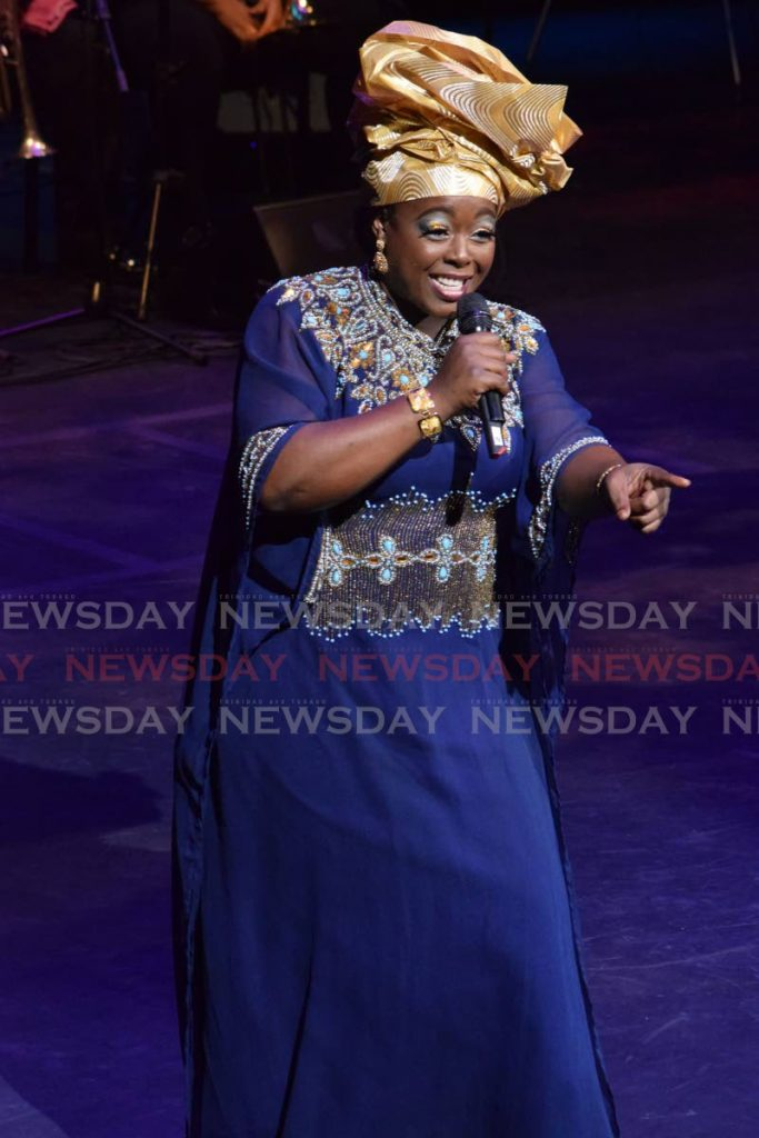 WINNING PERFORMANCE: Makeda Darius wowed the audience and judges alike with her song