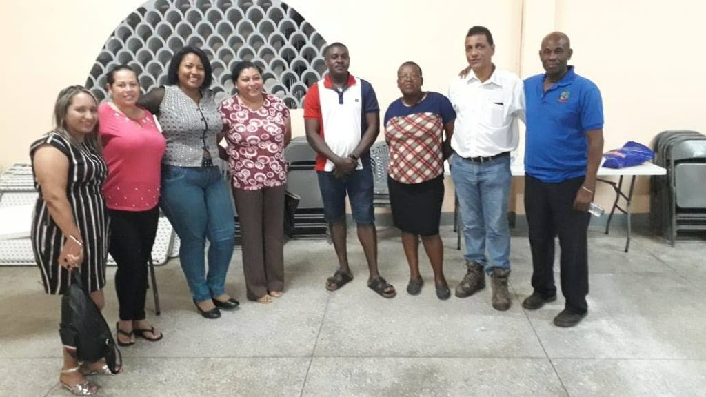 Members of the Mayaro Trinidad Venezuela Without Barriers organisation. -