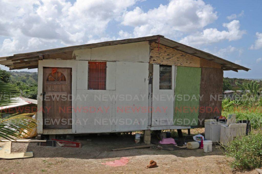 The house at Hilltop Drive, Springvale, Claxton Bay where Cindy Joseph, 33, and her 19-year-old boyfriend Kadeem Elijah were shot dead. PHOTO BY MARVIN HAMILTON - Marvin Hamilton