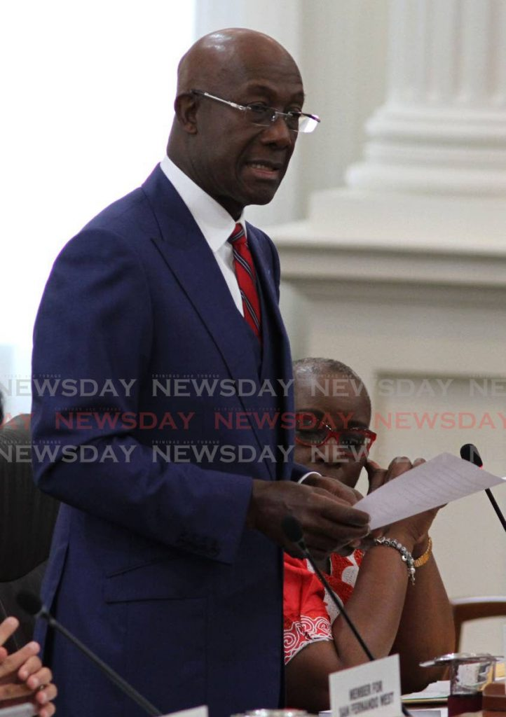 Prime Minister Dr Keith Rowley.  PHOTO BY AYANNA KINSALE -