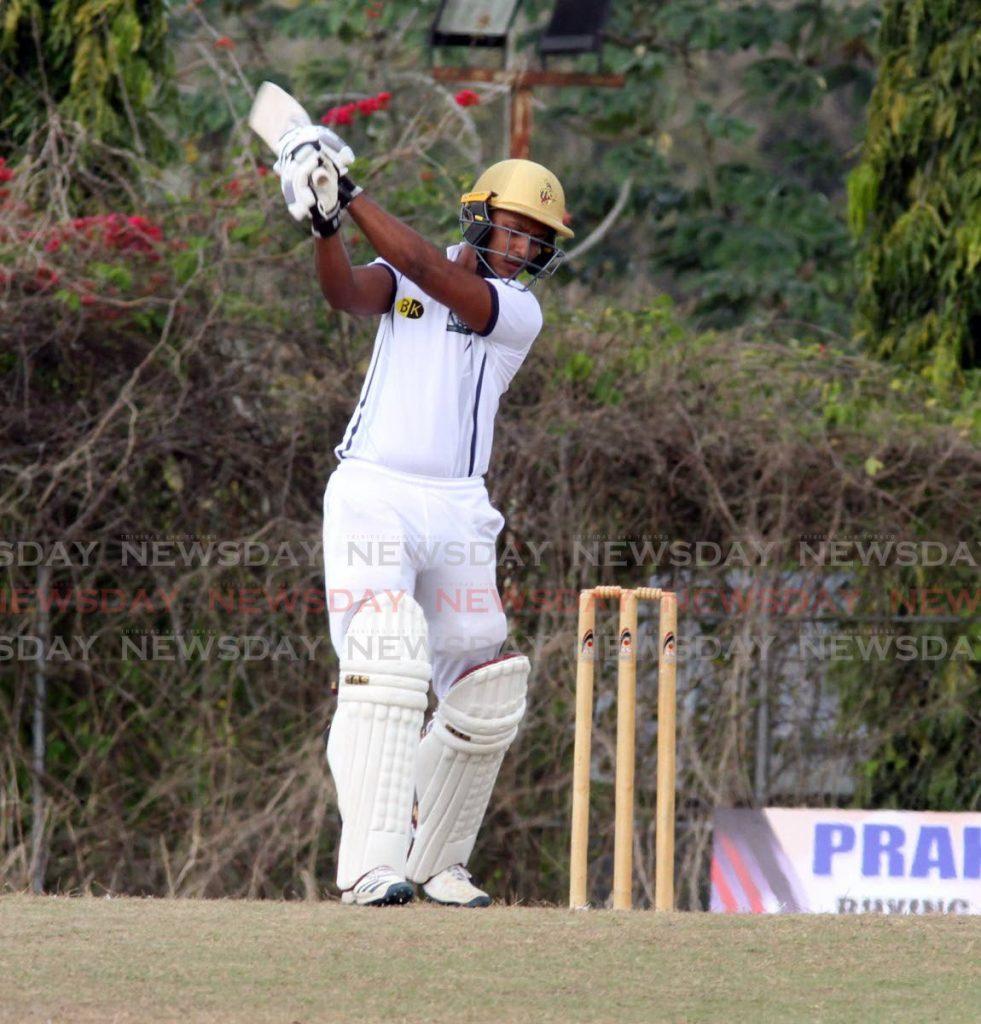 Mark Deyal of Preysal plays a shot against Clarke Road. - Vashti Singh