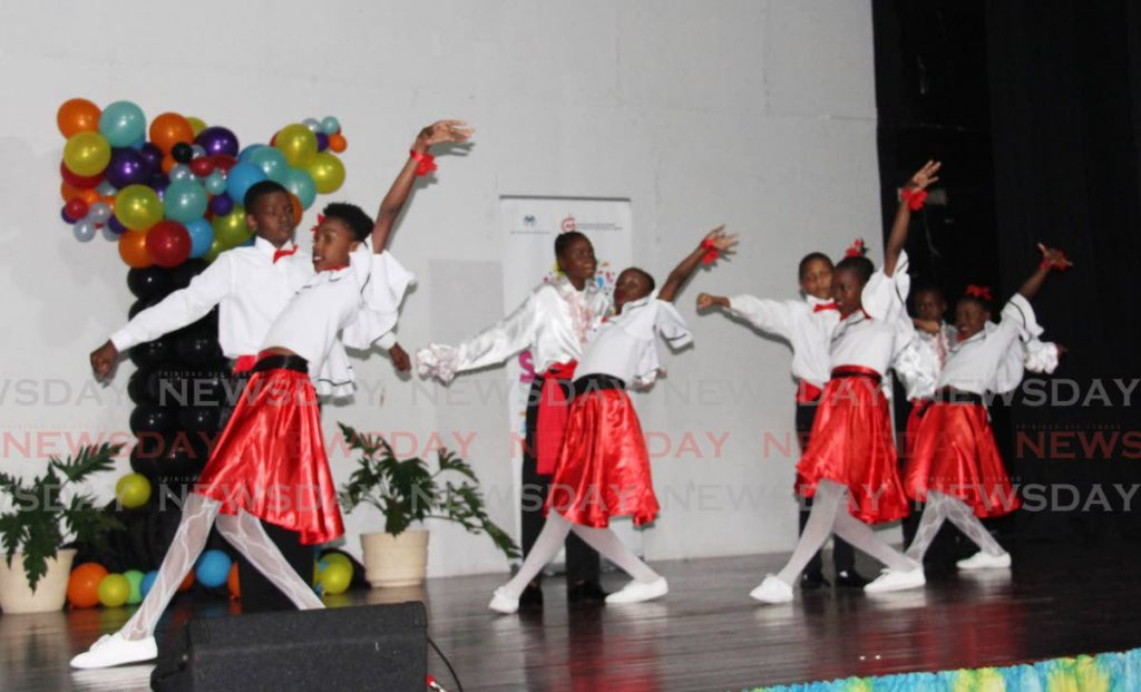 DANCE MOVES: Students of Barataria Anglican Primary school perform at the Command Sanfest show at the Creative Arts Centre in San Fernando on Saturday. PHOTOS BY VASHTI SINGH - Vashti Singh
