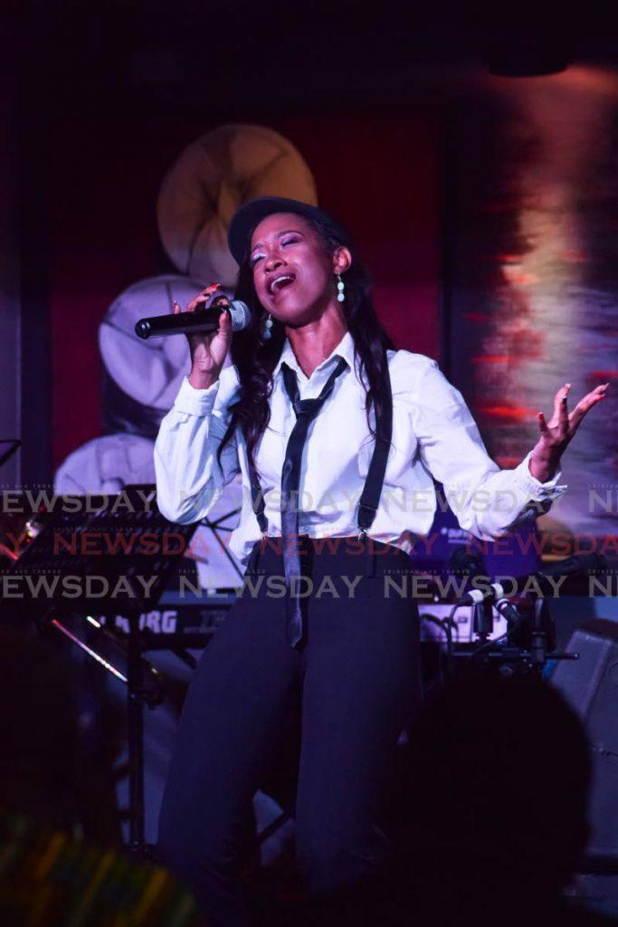 Meguella Simon sang Is Dis A Movie? at the show. PHOTO BY VIDYA THURAB - Vidya Thurab