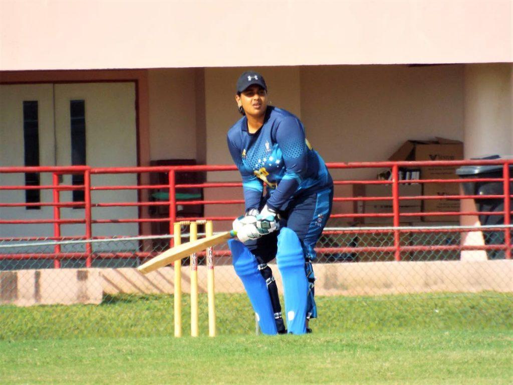 Captain of the UWI Women's Cricket Club Nadra Dwarika-Baptiste  -