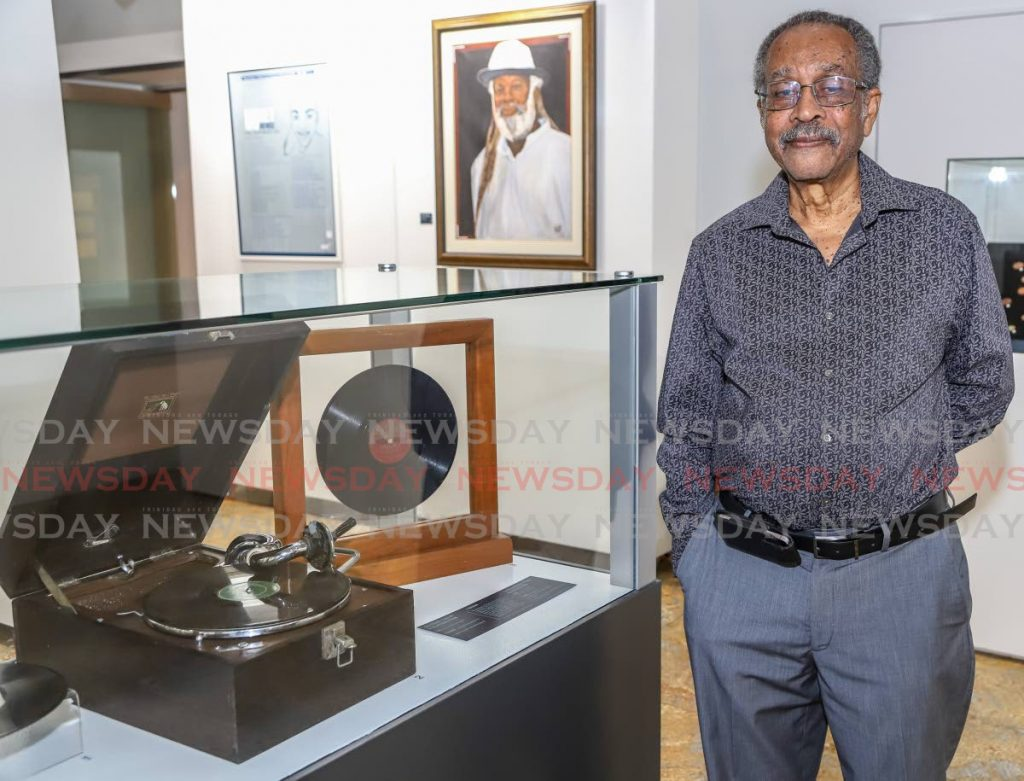 Harold Moylan, author, music enthusiast, local museum researcher, owner of the gramophone and early local recordings of calypso on loan for display at the at the Money & Music Carnival Exhibition. - JEFF K MAYERS
