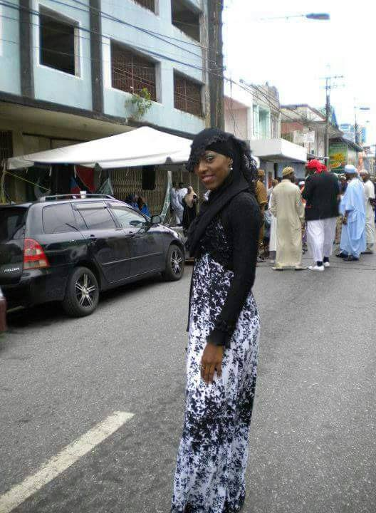Aliya Abdul Haqq in Trinidad before leaving to join ISIS in Syria along with her brother. -