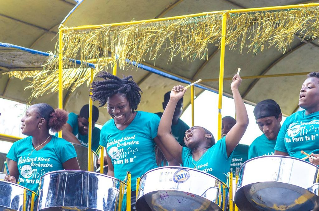 Carib Dixieland during their performance in the medium band semifinals of Panorama at Queen's Park Savannah, Port of Spain on February 9. - Warren Le Platte
