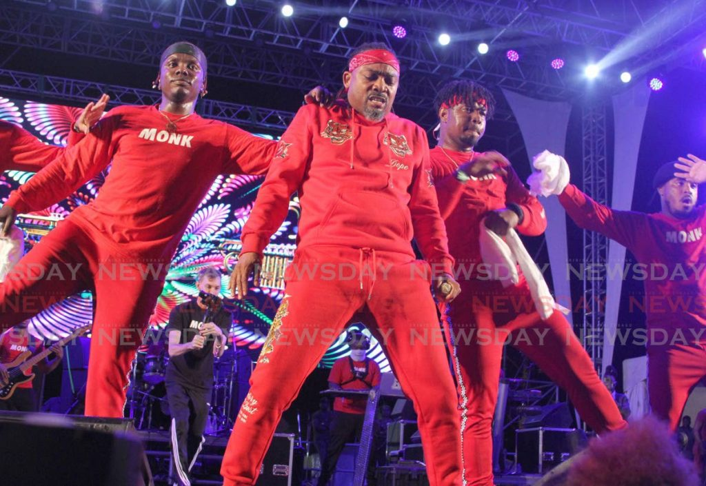 Machel Montano during his performance at a fete earlier in February. Montano became frustrated with poor audio as he sang at Karukera fete on Maracas beach on Friday. - Ayanna Kinsale
