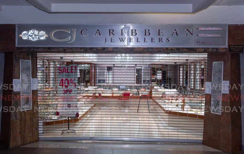 Caribbean Jewellers' Gulf City Mall, Lowlands branch was robbed on Monday.  - DAVID REID