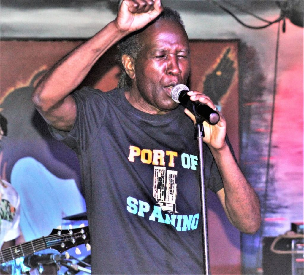 David Rudder performs at his show Port of Spaining at the Kafe Blue, Wrightson  las Thursday. - Gary Cardinez