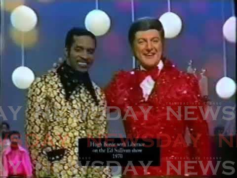 Hugh Borde, left, with Liberace on The Ed Sullivan Show in 1970. YOUTUBE PHOTO -