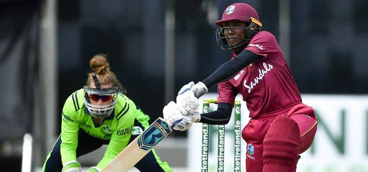 West Indies Women's captain Stafanie Taylor, right, led her team to victory in the opening match of the ICC Women's T20 World Cup in Australia, on Saturday. -