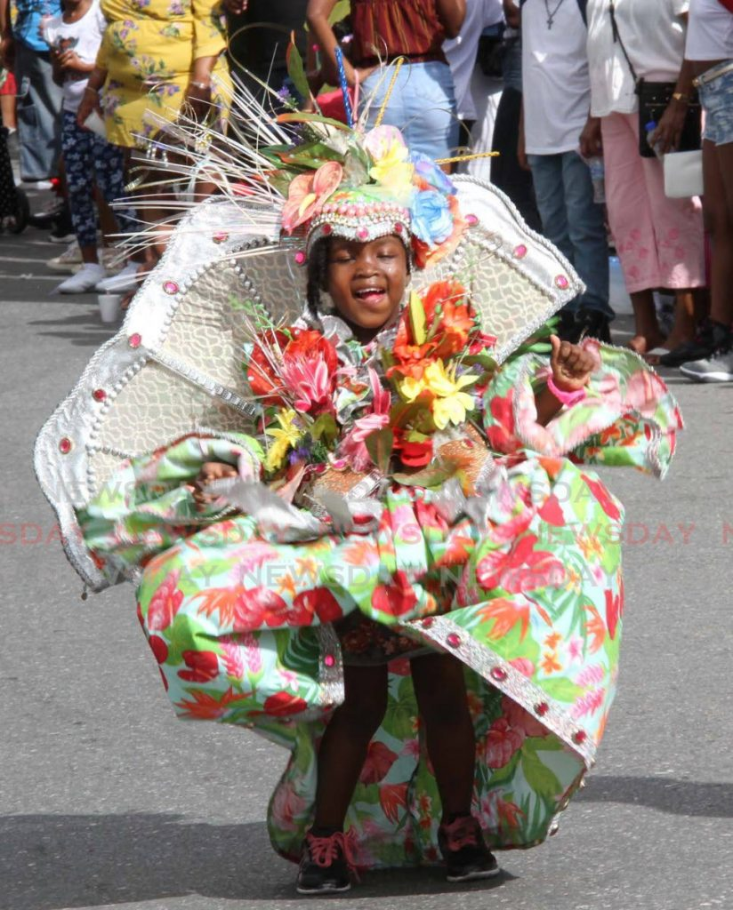She might be little, but this masquerader from the Eccles Ville AC School proved she could plas mas as good as any other.  - Vashti Singh