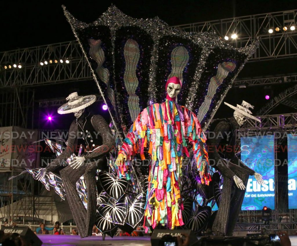 KING: Lords of De Savannah, by Ted Eustace, which was crowned the King of Carnival at the Dimanche Gras show last February at the Queen's Park Savannah in Port of Spain.  - SUREASH CHOLAI