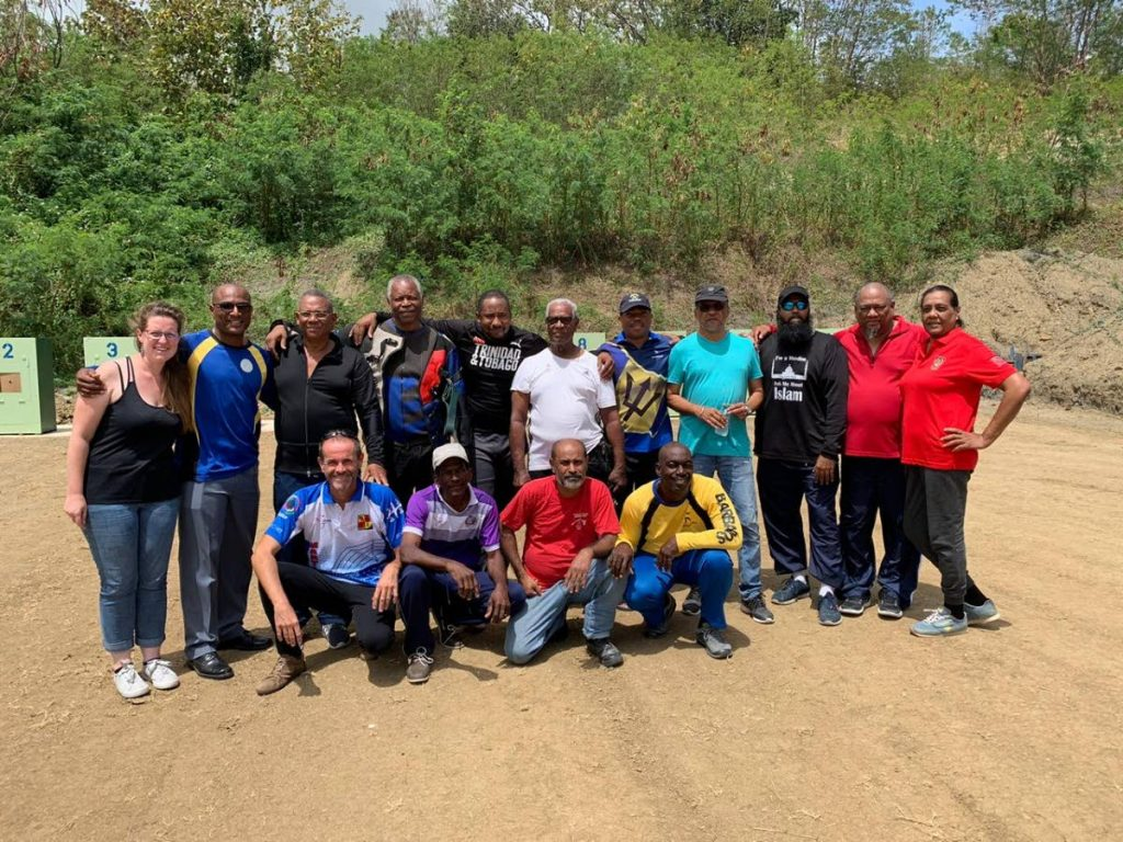 Participants from the 2020 Top Shot Inter-Club Invitational Shoot at the South Trinidad Rifle Association Shooting Range, Claxton Bay. -