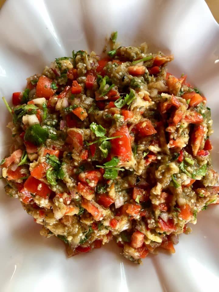 Mediterranean eggplant salad -