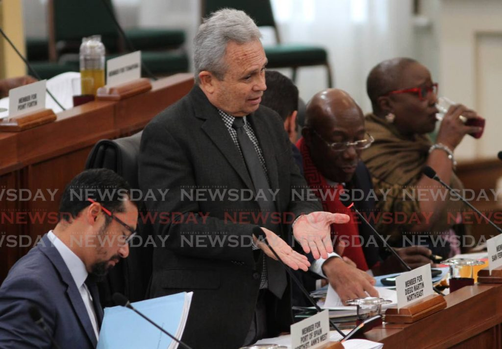 Minister of Finance Colm Imbert speaks at Parliament at the Red House in Port of Spain on Friday.  - Ayanna Kinsale