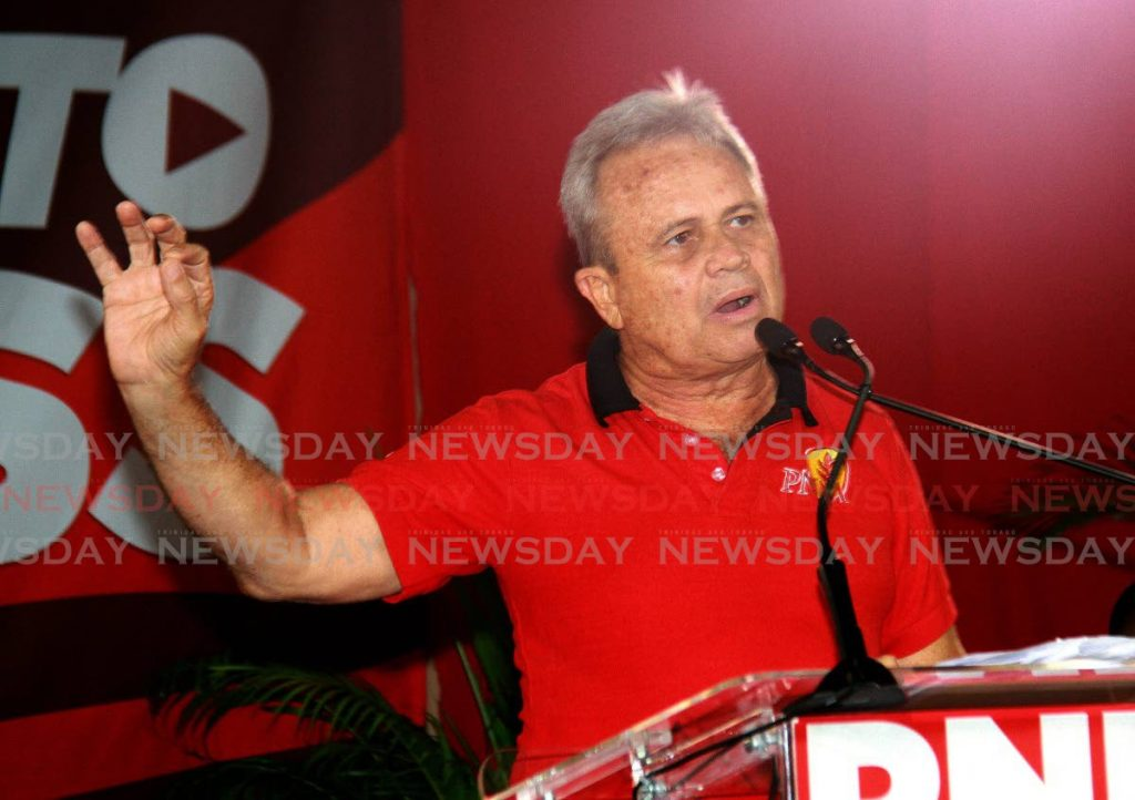PNM chairman Colm Imbert  -