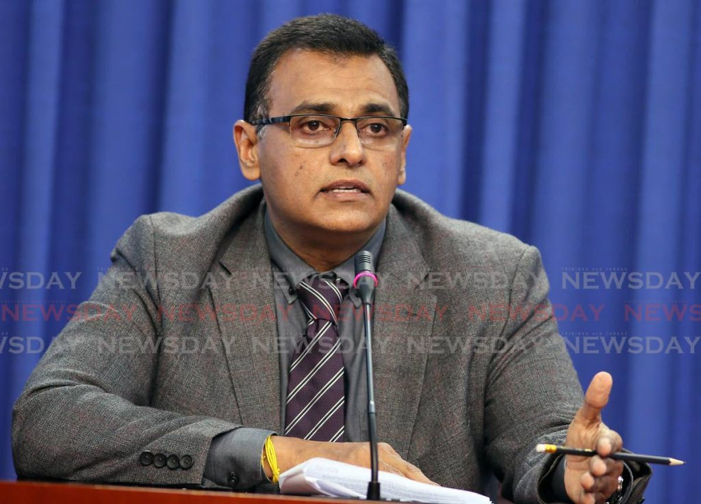Works and Transport Minister Rohan Sinanan. -