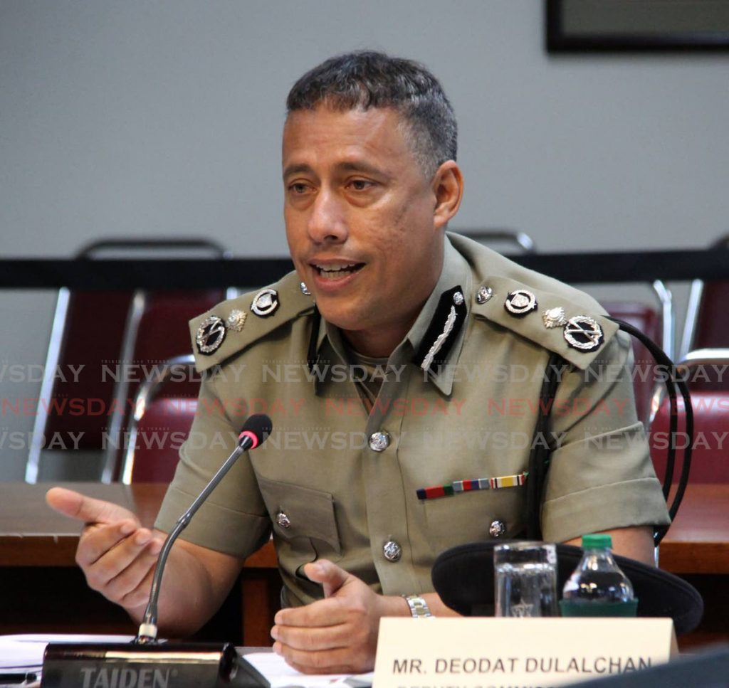 In a 2019 file photo, Police Commissioner Gary Griffith addresses the JSC on national security. During a sitting in January, Griffith told the committee governments over the past decade have had links to criminals.  - SUREASH CHOLAI