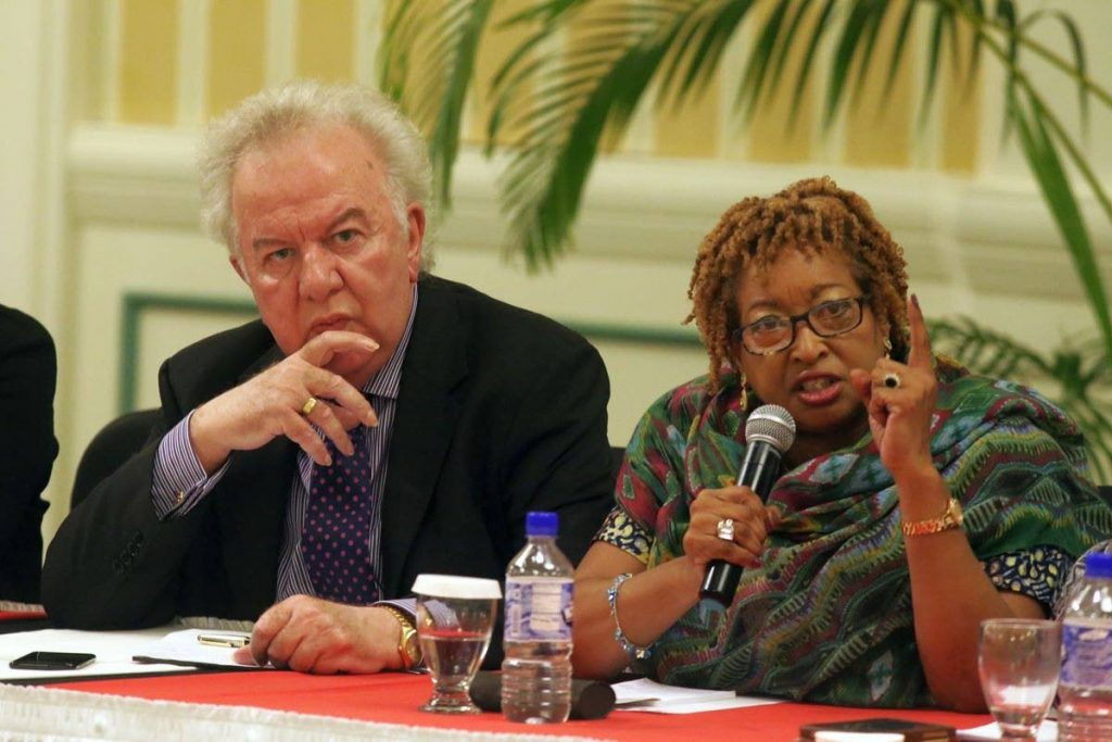 Carol-Ann Birchwood-James, right, vice-president of Tobago Hotel and Tourism Association says the triage system at the Scarborough General Hospital needs to be improved. PHOTO COURTESY THA -