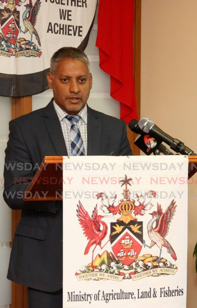 Clarence Rambharat, Minister of Agriculture. -