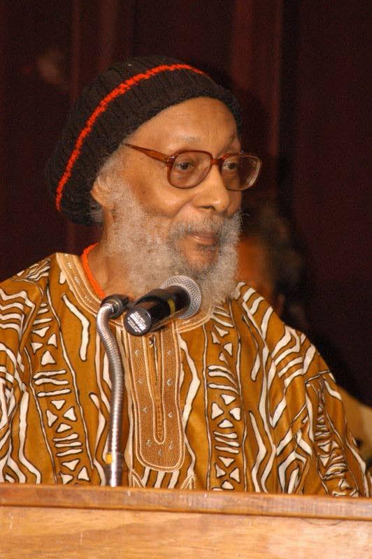 Barbados-born Poet and Caribbean son-of-the-soil, Kamau Brathwaite.  -