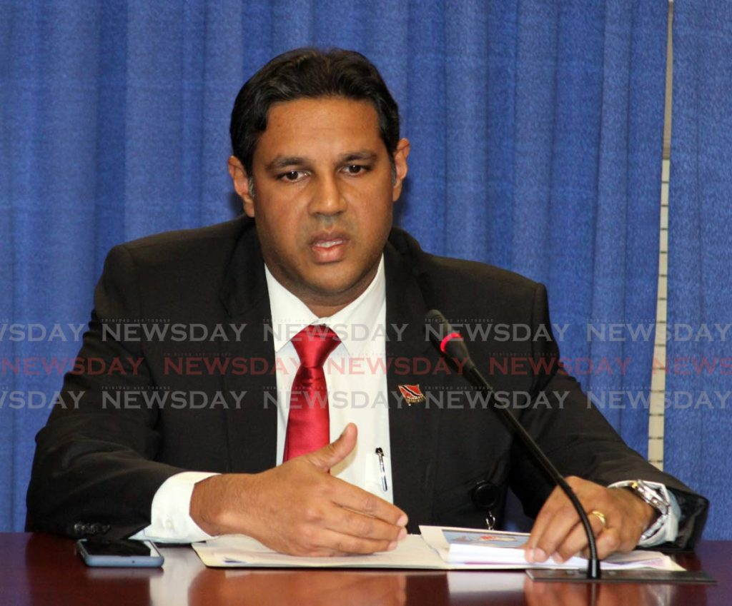 Chief medical officer, Dr Roshan Parasram   Photo: Angelo Marcelle