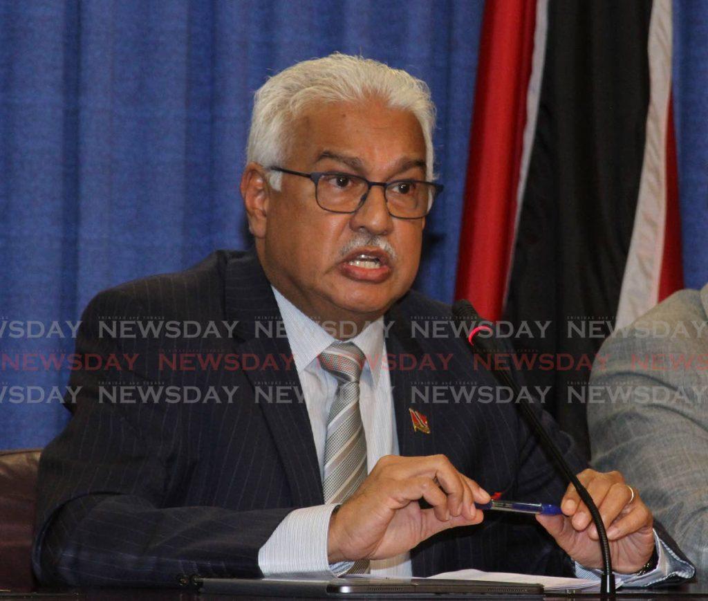 Health Minister Dr Terrence Deyalsingh. -