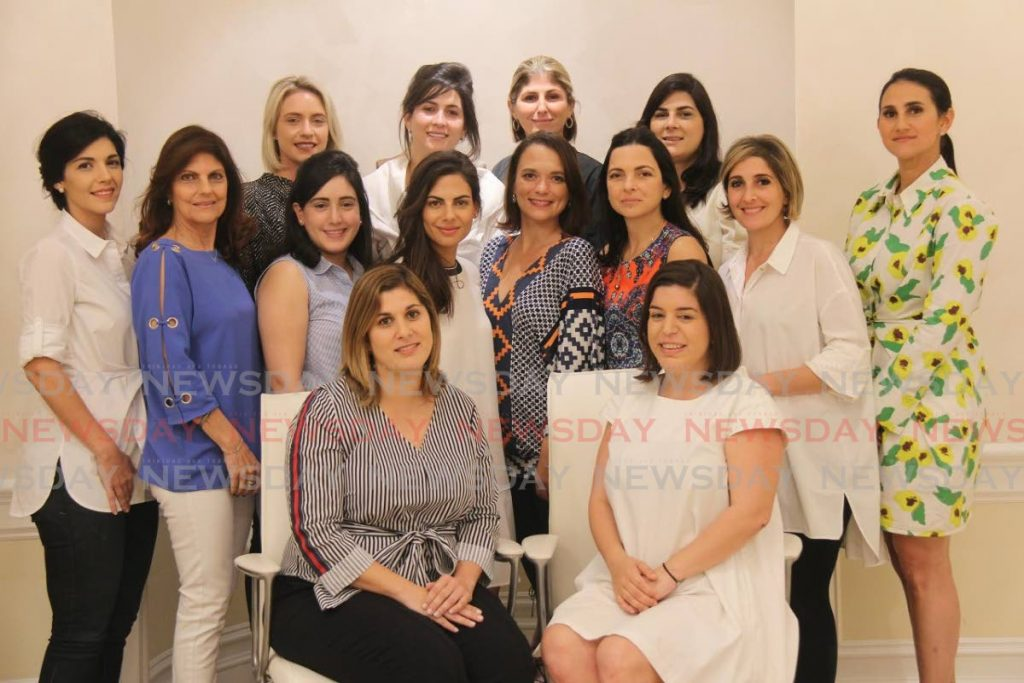The 2020 Syrian Lebanese Women's Association Executive Committee: back row – Amanda Collier, left, Genevierve Hadeed, Michelle Hadeed, Melissa Moses Middle row –Sarah Whiby, left, Debra Hannon Barcant, Tatiana Sabga, Staci Sabga, Alicia Chamely, Sophia Laquis, Rosemarie Abed, Justine Aboud-Chamely. Front row – Amanda Rahael and Jo-Marie Zakour -