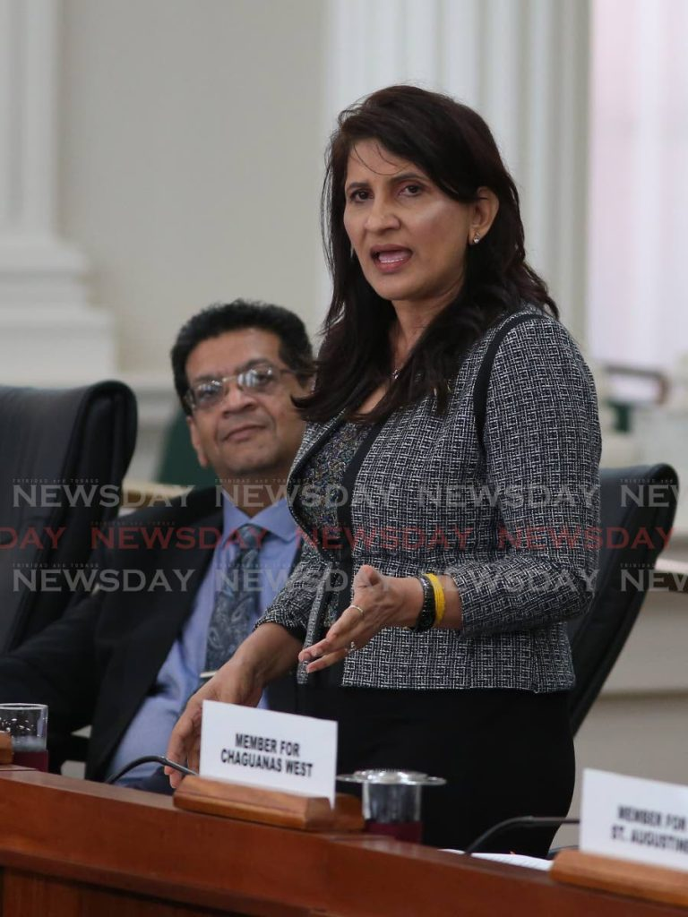 Oropouche West MP, Vidia Gayadeen-Gopeesingh. FILE PHOTO  -