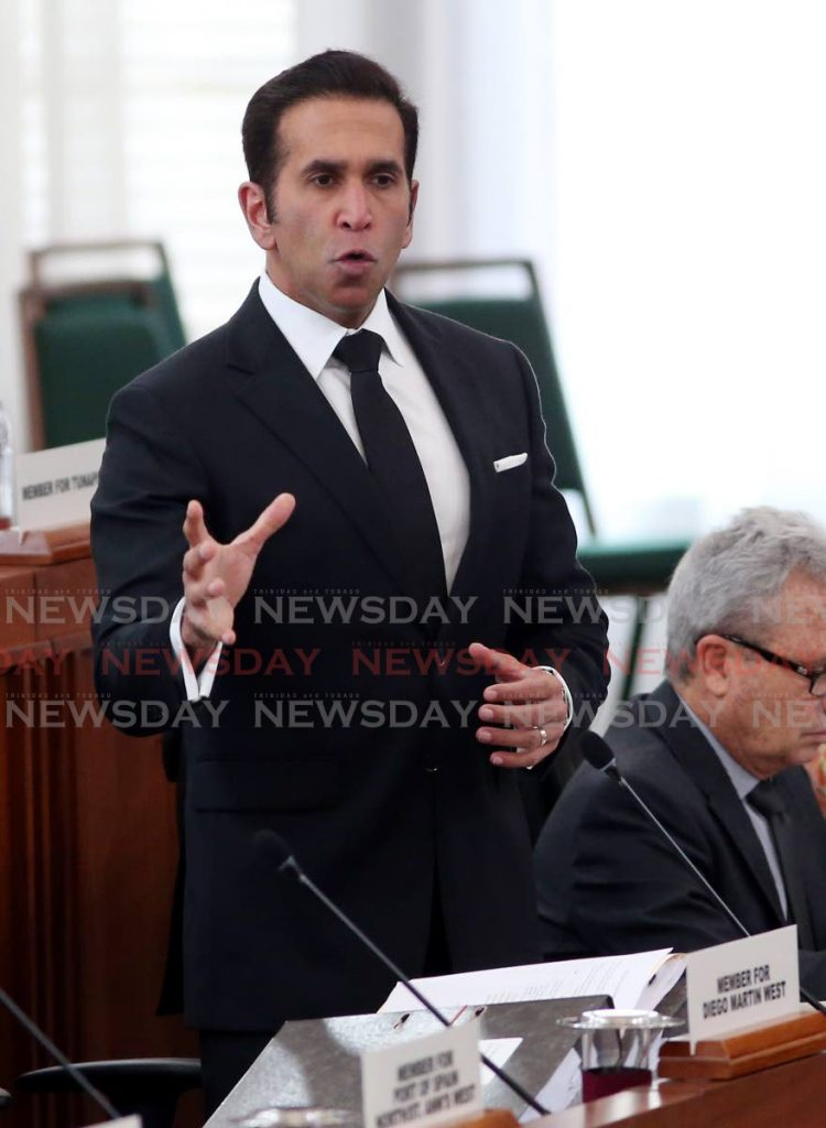 San Fernando West MP, Attorney General Faris Al-Rawi in Parliament in early March. PHOTO BY ANGELO MARCELLE -