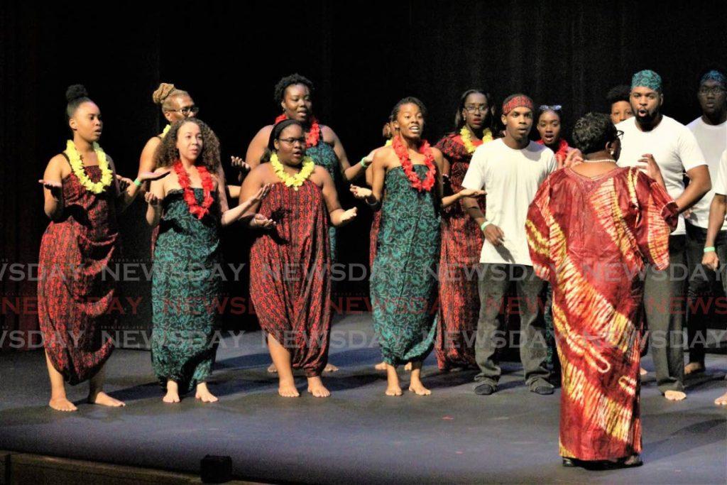 APA Swingers won the folk choir competition on Thursday at Queen's Hall, Port of Spain. - Gary  Cardinez