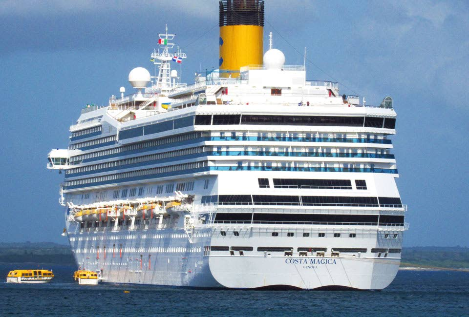 File photo: The Italian cruise ship Costa Magica which was supposed to dock at the Port in Scarborough, Tobago but which was ordered not to do so by the government amid the coronavirus scare. -