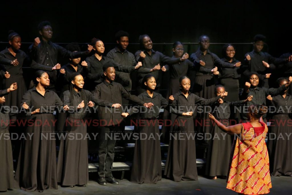 The Port of Spain Youth Choir placed 1st in the Secondary School Choirs (Mixed Voices 21 and under) and 3rd in the Junior Choirs categories at the Music Festival 2020 at Queen's Hall. PHOTO SUREASH CHOLAI - Sureash Cholai