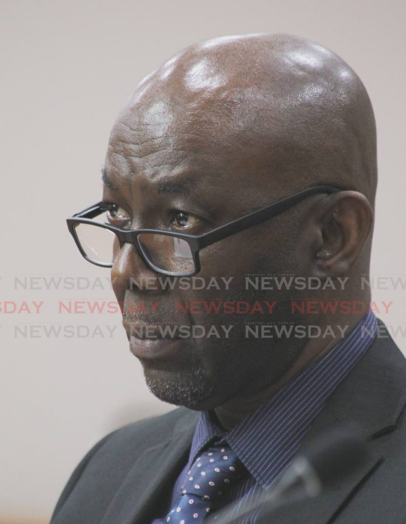 Kenneth Kerr, acting chief climatologist and the Met Services at a sitting of the Joint Select Committee on Land and Physical Infrastructure on Monday.   - ROGER JACOB
