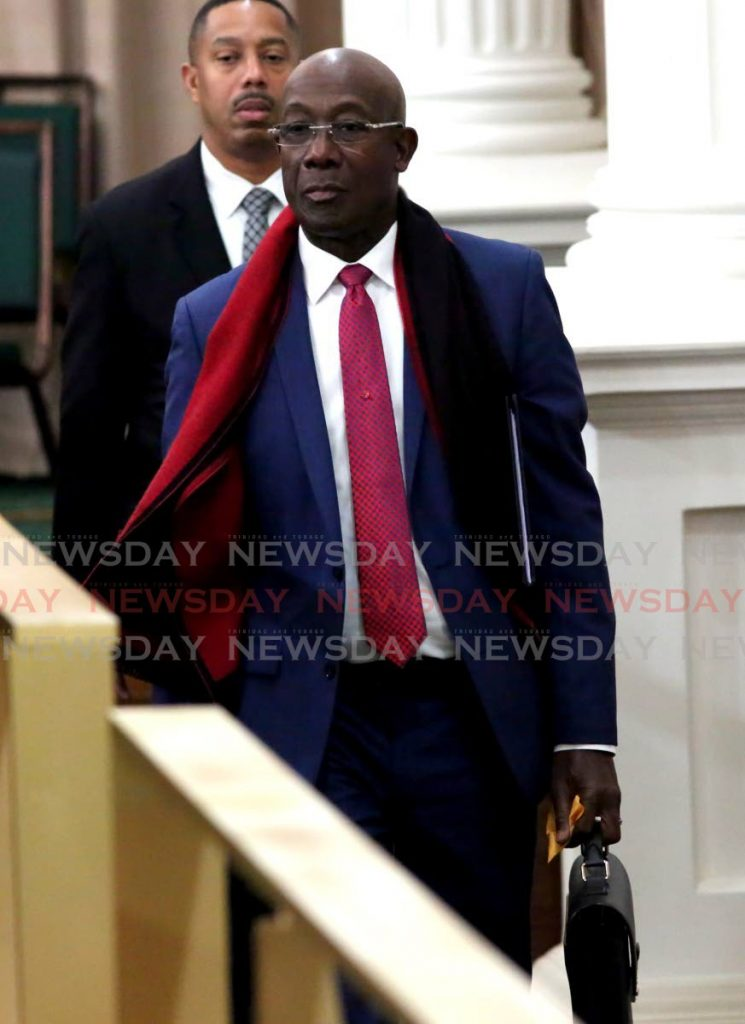 Prime Minister Dr Keith Rowley in Parliament at the Red House, Port of Spain, Friday. - SUREASH CHOLAI
