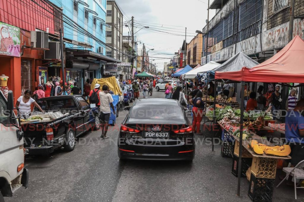 A scene at usually bustling Charlotte Street in Port of Spain. - JEFF K MAYERS
