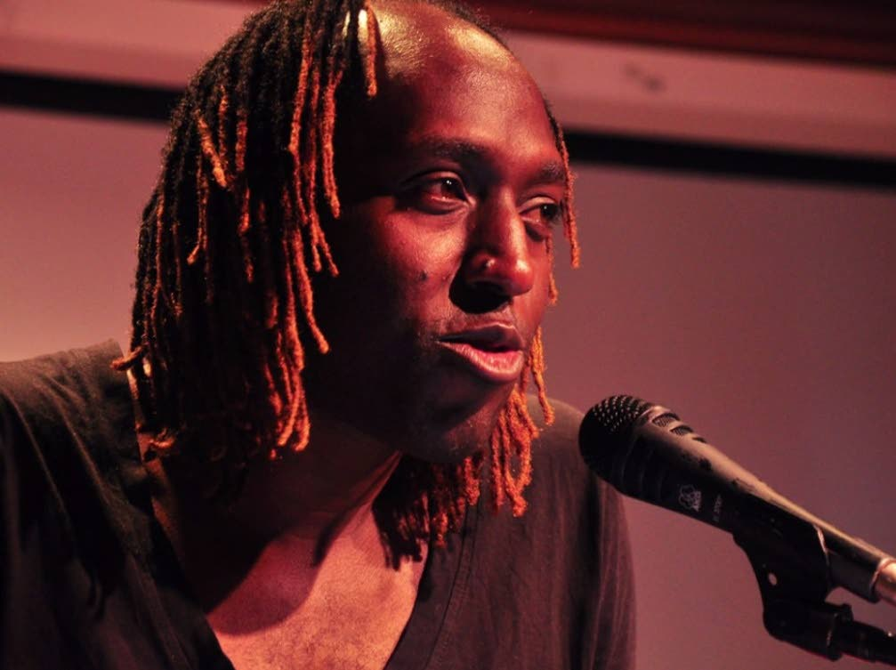 Jamaican poet Kei Miller participating at the second annual literary festival in 2012. -