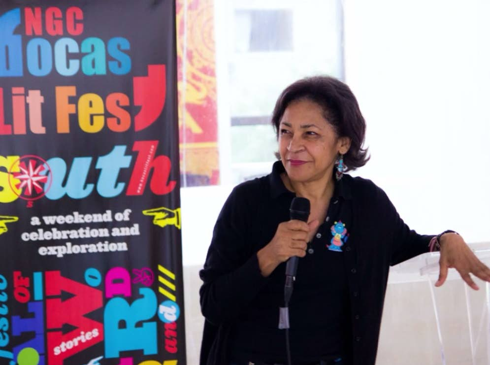 Festival founder/director Marina Salandy-Brown at the 2014 South edition of the NGC Bocas Lit Fest. -